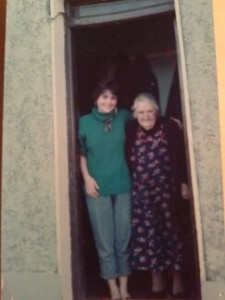 Grandma Annie Crawford & I, circa 1988, in Connolly, Clare, Ireland