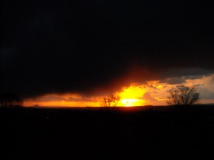 Sunset view from Maestas Rd, Taos
